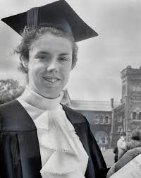 Miss Hoffman: B.A.: Abigail Hoffman: Canadian Olympic runner: proudly  displays her BA degree in Political Science and Economics with first class  honors received at Convocation Hall. : Digital Archive : Toronto Public  Library