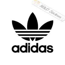 2x Adidas Logo Vinyl Decal Sticker Different Colors Size For Cars Bi M D Stickers