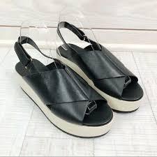 vince weslan leather platform sandal