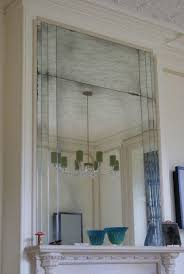 art deco style overmantle mirror by