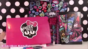 monster high ghoulicious stationary set