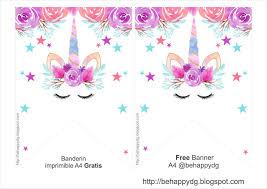 Be Happy Kit Imprimible Unicornio Gratis