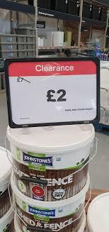 Johnstone S One Coat Fence Paint 9l Different Colours Available 2 Instore B Q Manchester Hotukdeals