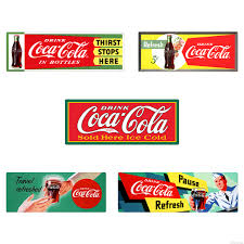Drink Coca Cola 1950s Soda Fountain Wall Decal Set Of 5 At Retro Planet