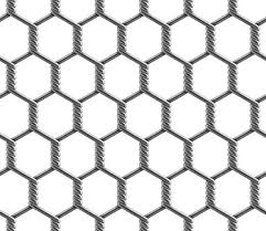 Seamless Pattern Of Hexagonal Reinforced Large Cell Chain Link Fence Vector Illustration Of Metal Wire Mesh Isolated On A White Background Royalty Free Vector Graphics