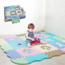 Children S Rug Cartoon Animal Pattern Carpet Eva Foam Puzzle Mats Baby Play Mat Floor Gym Crawling Playmat With Fence 30 30 Cm Play Mats Aliexpress