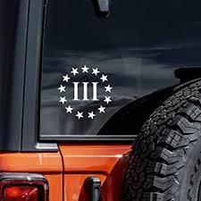 Amazon Com Vool Three Percenter Vinyl Decal Sticker 2nd Amendment Molon Labe 4 Automotive