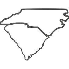 Outline Of North And South Carolina Vinyl Decal Car Decal Etsy