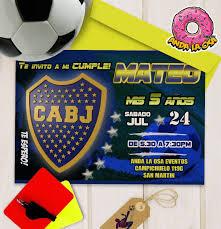 Tarjetas Invitaciones Digital Club Atletico Boca Juniors 100