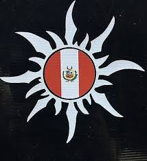 Peruvian Sun With Peru National Flag Car Decal Sticker Ebay