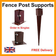 Fence Post Spikes Bolt Down Shoe 75mm 3 100mm 4 Garden Post Supports 10 89 Picclick Uk