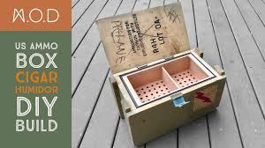 ammo case cigar humidor build diy you