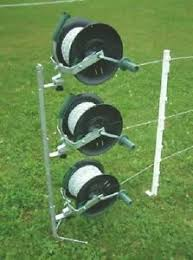 Reel Kit With 3 Geared Reels Mounting Post For Electric Fencing Ebay