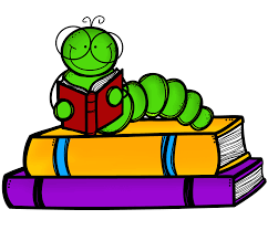 Stack of books and worm with onto clipart jpg - Clipartix