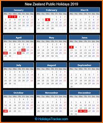 new zealand public holidays 2019