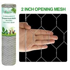 Amagabeli 2in 36inch X 50ft Hexagonal Poultry Netting Galvanized Chick