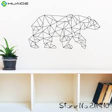 Geometric Polar Bear Wall Decal Sticker Vinyl Removable Wall Stickers For Kids Room Boys Bedroom Wall Art Mural A343 Sticker For Kids Room Wall Decals Stickerswall Stickers For Kids Aliexpress