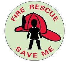 Fire Rescue People Locator Window Decals