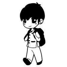 Baby Boy School Uniform Vinyl Decal Sticker