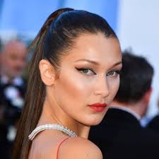 close ups of bella hadid s makeup