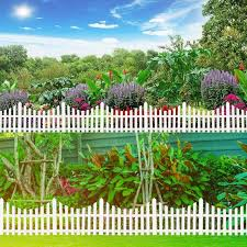 Big Offer Ee6f 24pcs Plastic Garden Border Fencing Fence Pannels Outdoor Landscape Decor 610x330mm Edging Yard Easy Install Insert Ground Type Cicig Co