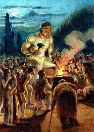 """Ici je fais un parallèle entre l'outil Monnaie et l'outil Feu. Cette image montre le titan Prométhée. La mythologie raconte que Prométhée a """"dérobé le feu sacré de l'Olympe pour en faire don aux humains. Courroucé par cet acte déloyal, Zeus le condamne à être attaché à un rocher sur le mont Caucase, son foie dévoré par l'Aigle du Caucase chaque jour, et repoussant la nuit.""""  Espérons que Satoshi Nakamoto (anonyme inventeur du Bitcoin) soit bien caché. 👀"""