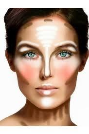 contour and highlight your face with makeup