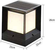 Xloo Solar Post Cap Lights Outdoor Led Post Cap Light Cast Aluminum Solar Post Light Black 4 Sided Lighting Fence Post Lights For Wooden Posts Warm White Waterproof For Deck Amazon Co Uk Kitchen Home