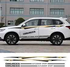 Amazon Com Jiers For Mitsubishi Outlander Car Side Door Sticker Diy Auto Sport Decal Styling Car Stickers Car Decal Sports Outdoors