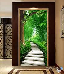 3d Forest Lane Tree Corridor Entrance Wall Mural Decals Art Print Wall Idecoroom