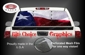 Texas Flag Rivets Rear Window Graphic Tint Decal Sticker Truck Etsy