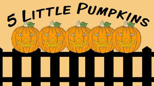 5 Little Pumpkins Halloween Fingerplay Song For Children Youtube