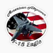 F 15e Strike Eagle Sticker By Jeepsandplanes Redbubble