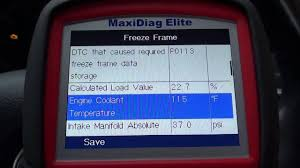 freeze frame data from your cars ecu