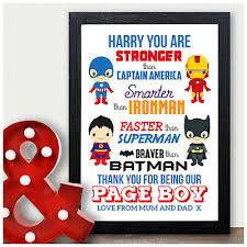 superhero page boy best man usher gift