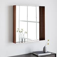 industrial shadowbox wall mirror