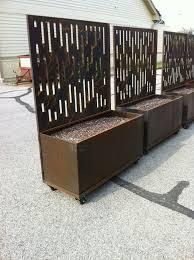 Privacy Planters Privacy Planter Privacy Screen Outdoor Corten Steel Planters
