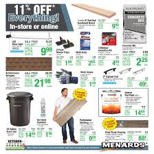 Menards Weekly Ad October 18 October 24 2020 11 Off Everything Sale
