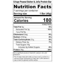 peanut er jelly protein bar