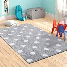 Amazon Com Livebox Polka Dots Area Rugs 3 X 5 Kids Play Mat Soft Plush Baby Crawling Mat Non Slip Throw Carpet For Teen Girl Living Room Bedroom Playroom Nursery Decor Best Shower Gift Gray