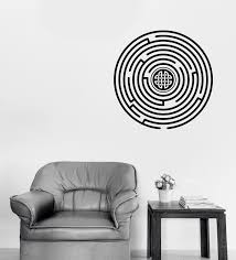 Wall Sticker Vinyl Decal Circle Labyrinth With Celtic Ornament Unique Wallstickers4you