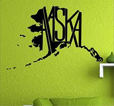 Amazon Com Alaska State Map Flag Ak Home State Wall Vinyl Decal 34 X 22 5 Everything Else