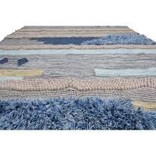 tuckerman hand looped wool blue gray