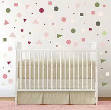 Amazon Com Geometric Wall Stickers Baby Girl Wall Decal Removable Stickers Kids Wall Decal Baby Nursery Wall Decal Murals Modern Nursery Wall Decal Handmade