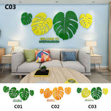 Kinds Tropical Jungle Leaves Leaf 3d Acrylic Wall Sticker Vinyl Decal Home Decor Wall Stickers Aliexpress