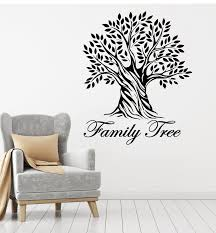 Vinyl Wall Decal Living Room Art Family Tree Branch Leaves Stickers Mu Wallstickers4you