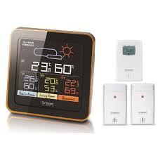 Oregon Scientific Rar502s Multi Zone Wireless Temperature Monitoring Station With Humidity Mold Alert Weather Forecast Indoor Outdoor Kids Baby Nursery Bedroom Home Walmart Com Walmart Com