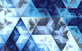 4k مثلثات الفن الهندسة الأشكال الهندسية خلفية زرقاء