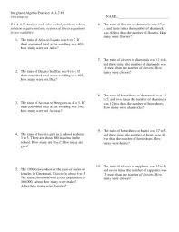 linear equations worksheet word