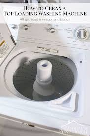 clean a top loading washing machine